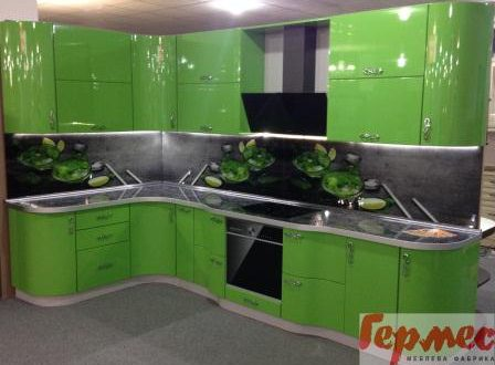 кухня на заказ пластик зеленая