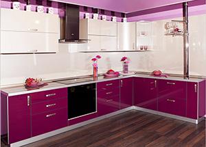 Кухня Оля светло-фиолетовая