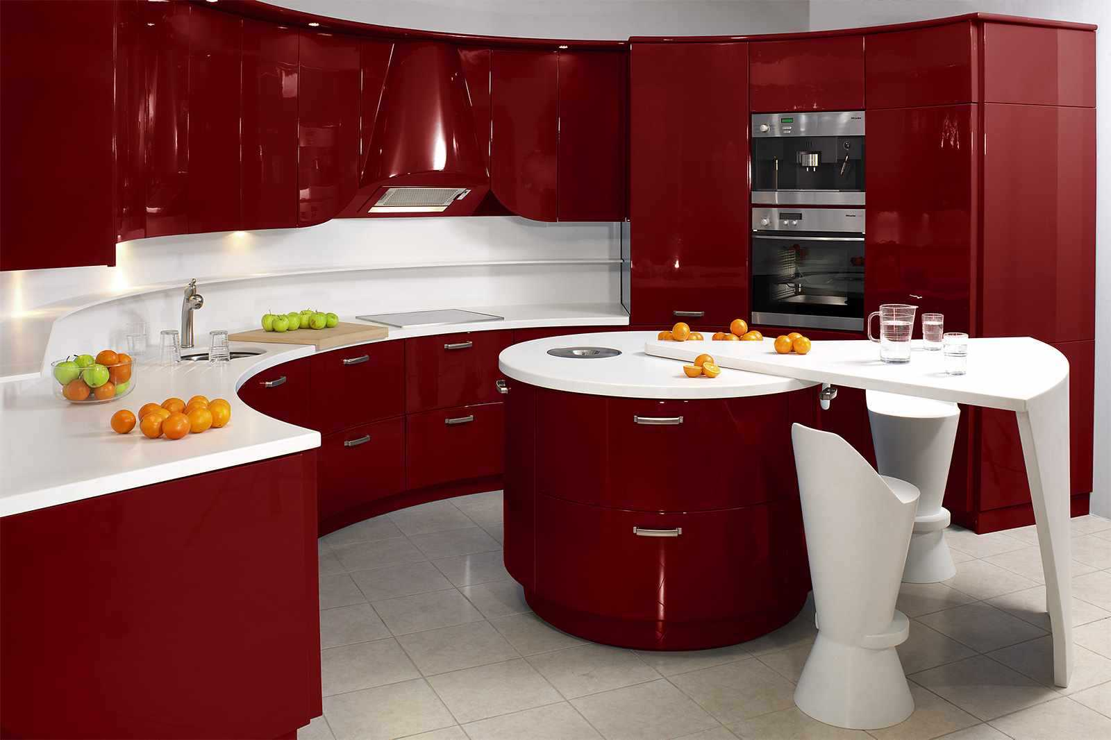удобный дизайн кухни