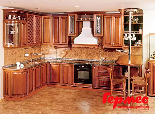 деревянная кухня в старинном стиле