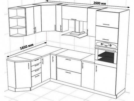 пример проекта кухни Гермес