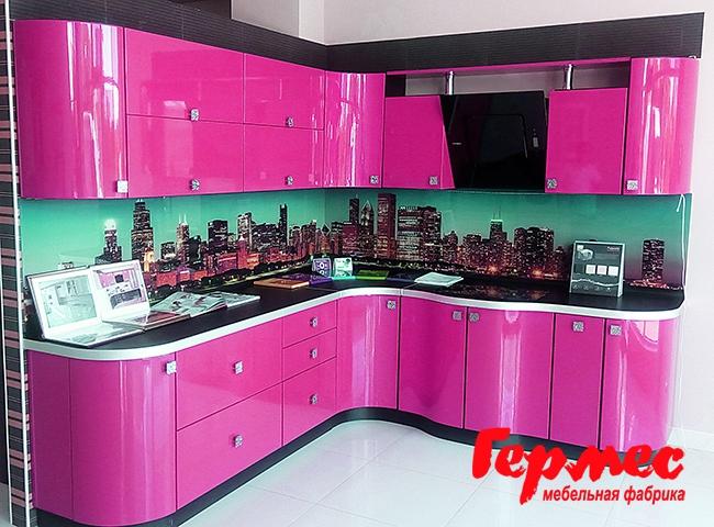 фиолетовая кухня Гермес