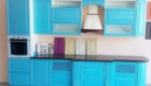 кухня на заказ голубая - Виктория
